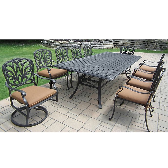 Alternate image 1 for Oakland Living Clairmont 11-Piece Outdoor Dining Set in Antique Bronze