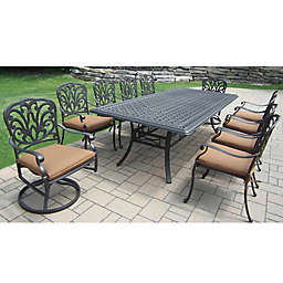 Oakland Living Clairmont 11-Piece Outdoor Dining Set in Antique Bronze