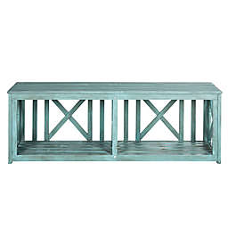 Safavieh Branco Bench in Beach House Blue