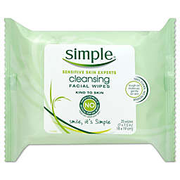 Simple® 25-Count Cleansing Facial Wipes