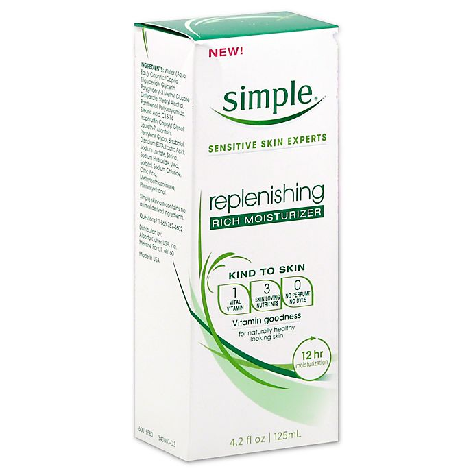 Alternate image 1 for Simple® 4.2 oz. Replenishing Rich Moisturizer