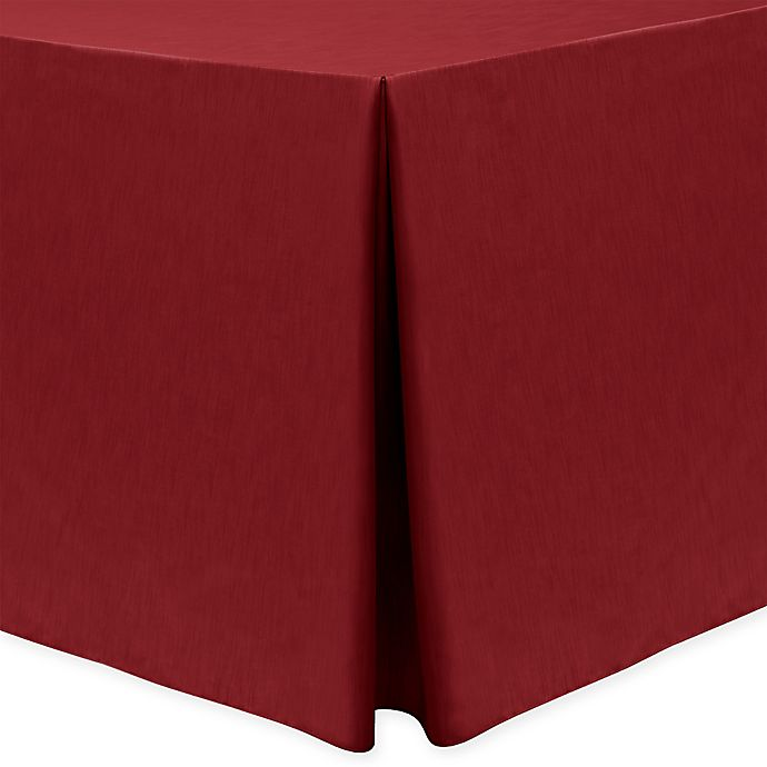 Alternate image 1 for Majestic 30-Inch x 72-Inch Oblong Tablecloth in Holiday Red