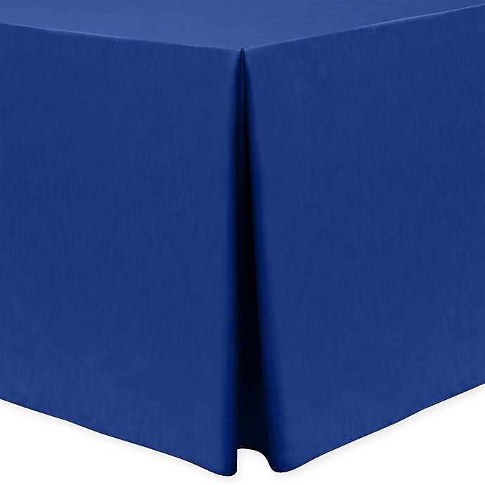 Alternate image 1 for Majestic 30-Inch x 96-Inch Oblong Tablecloth in Royal