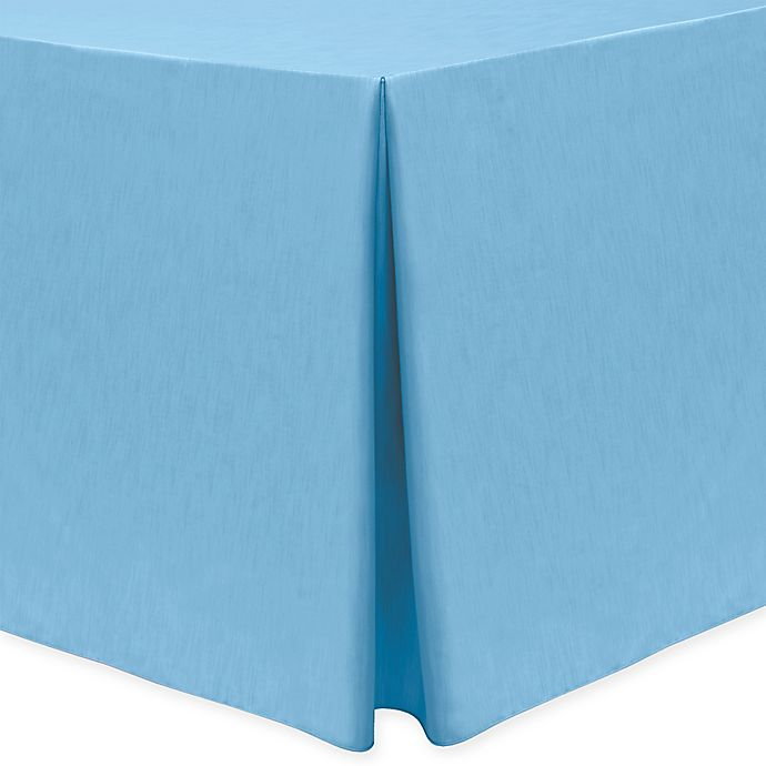 Alternate image 1 for Majestic 30-Inch x 96-Inch Oblong Tablecloth in Light Blue