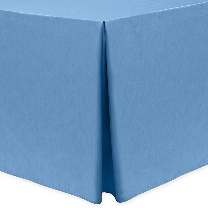 Alternate image 1 for Majestic 30-Inch x 96-Inch Oblong Tablecloth in Periwinkle