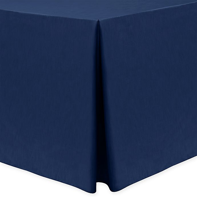 Alternate image 1 for Majestic 30-Inch x 96-Inch Oblong Tablecloth in Navy