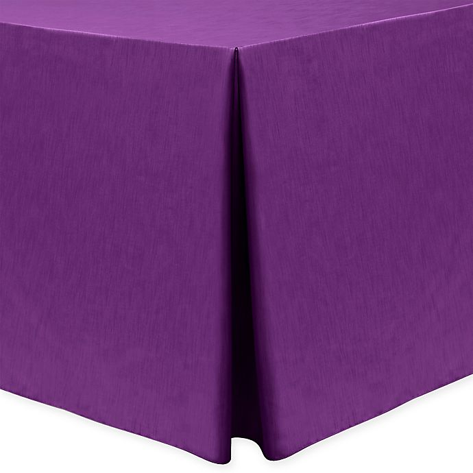 Alternate image 1 for Majestic 30-Inch x 96-Inch Oblong Tablecloth in Plum