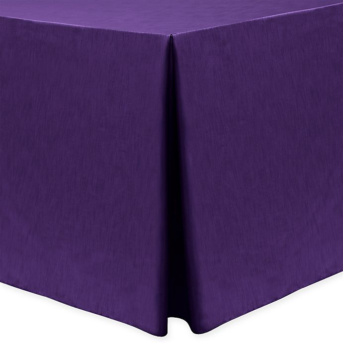 Alternate image 1 for Majestic 30-Inch x 96-Inch Oblong Tablecloth in Purple