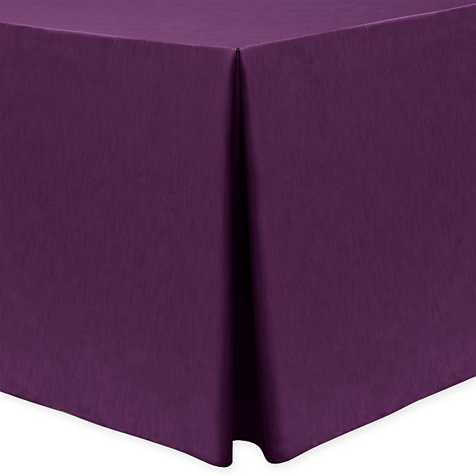 Alternate image 1 for Majestic 30-Inch x 96-Inch Oblong Tablecloth in Aubergine