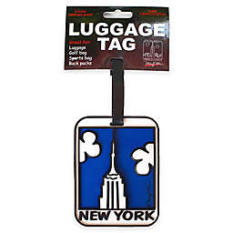 New York Empire State Building 3-D Luggage Tag in White