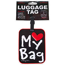 Love My Bag 3-D Luggage Tag in Black