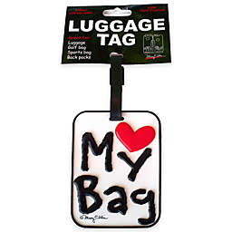 Love My Bag 3-D Luggage Tag in White