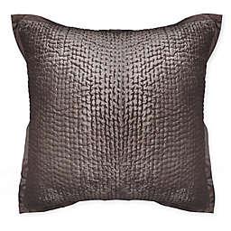 Wamsutta Collection Text Velvet F19 (Wam Collection) European Pillow Sham in Chocolate