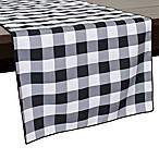 Gingham Poly Check 72-Inch Table Runner in Black/White