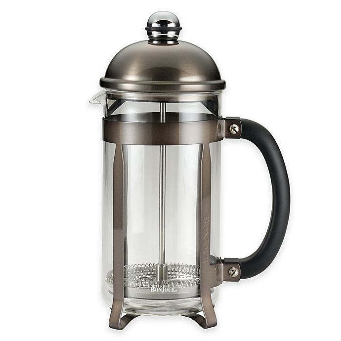 Bonjour 174 8 Cup Maximus French Press In Truffle Bed Bath