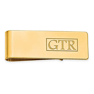 Block Letter Engraved Initial Money Clip