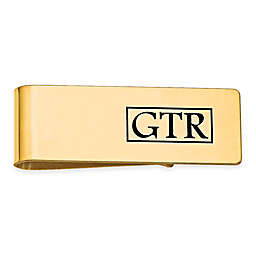 Enamel Initial Rectangle Money Clip