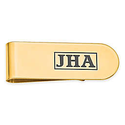 Enamel Initial Money Clip