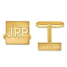 Raised Block Initial Square Cufflinks
