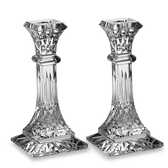 Alternate image 1 for Waterford® Lismore Crystal Candlestick 8-Inch Pair