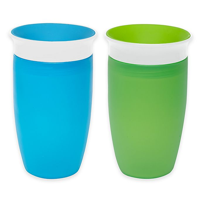 Alternate image 1 for Munchkin® Miracle® 360° 2-Pack 10 oz. Sippy Cups