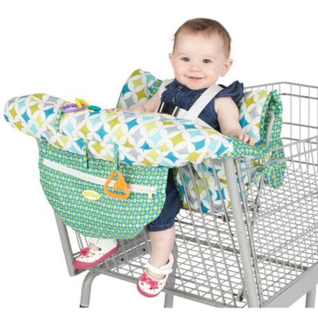 Nuby Shopping Cart And High Chair Cover In Green White
