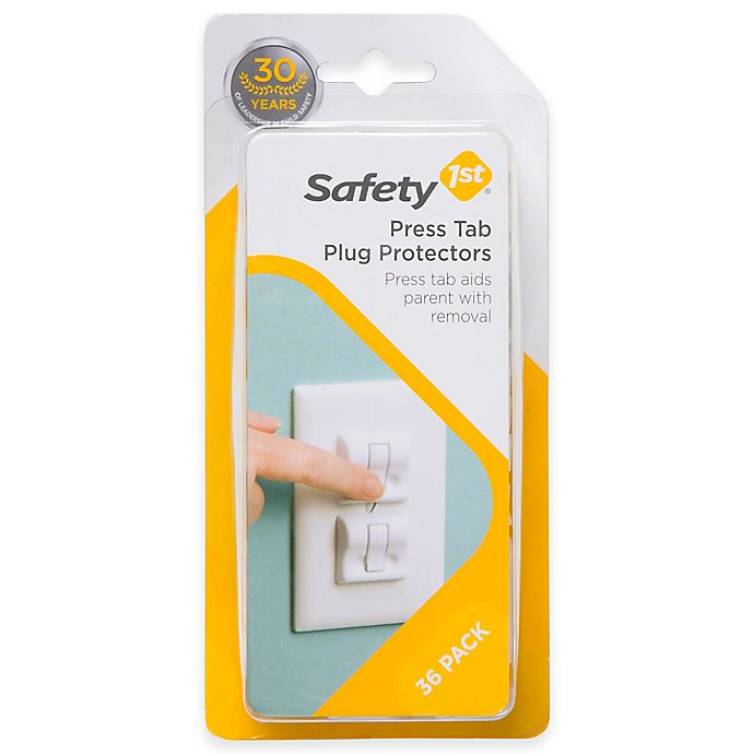 Alternate image 1 for Safety 1st® 36-Pack Press Tab Plug Protectors in White