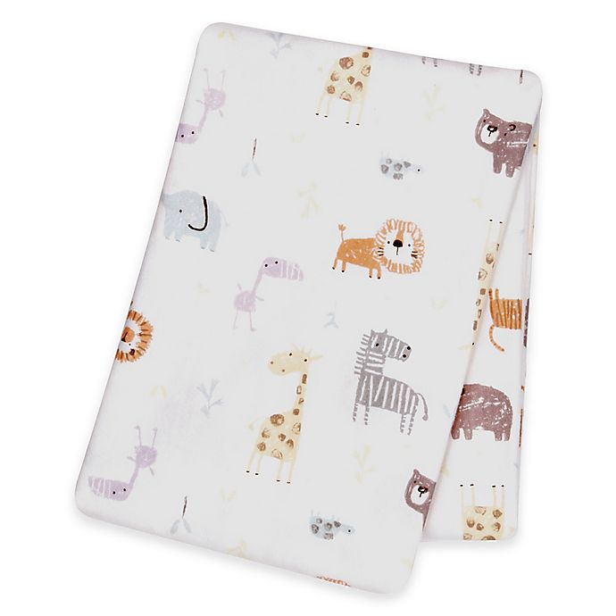 Alternate image 1 for Trend Lab® Crayon Jungle Deluxe Flannel Swaddle Blanket