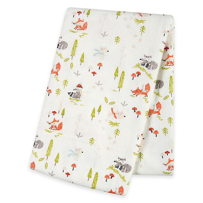 Alternate image 1 for Trend Lab® Winter Woods Deluxe Flannel Swaddle Blanket