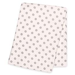 Trend Lab® Polka Dot Deluxe Flannel Swaddle Blanket in Grey