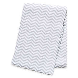Trend Lab® Chevron Deluxe Flannel Swaddle Blanket in Grey
