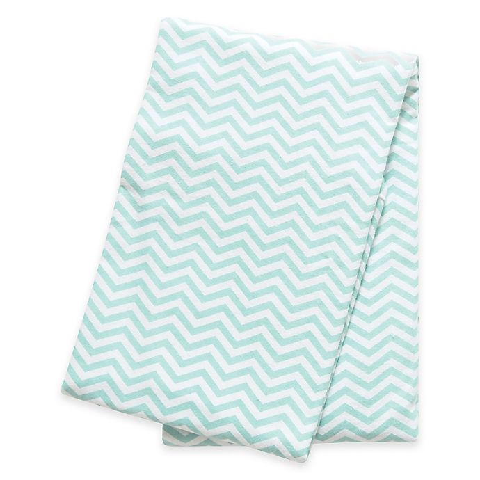 Alternate image 1 for Trend Lab® Chevron Deluxe Flannel Swaddle Blanket in Mint