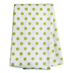 Trend Lab® Polka Dot Deluxe Flannel Swaddle Blanket in Sage