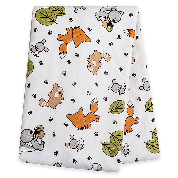 Alternate image 1 for Trend Lab® Friendly Forest Deluxe Flannel Swaddle Blanket
