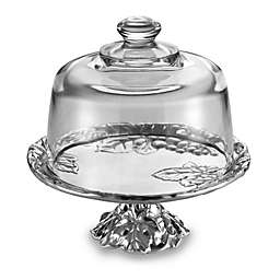 Arthur Court Designs Grape Footed Cake Plate with Glass Dome