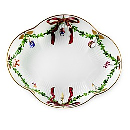 Royal Copenhagen Star Fluted Christmas Accent Plate