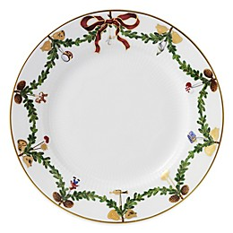 Royal Copenhagen Star Fluted Christmas Dessert Plate