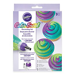 Wilton® Color Swirl™ 9-Piece Tri-Color Coupler Decorating Set