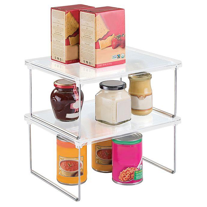 Alternate image 1 for iDesign® Cabinet Binz™ 12-Inch Stackable Shelf