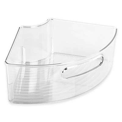 iDesign® Cabinet Binz™ Lazy Susan Quarter Wedge Storage Bin with Handle