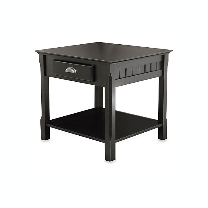 Riley End Table With Drawer In Black Bed Bath And Beyond Canada
