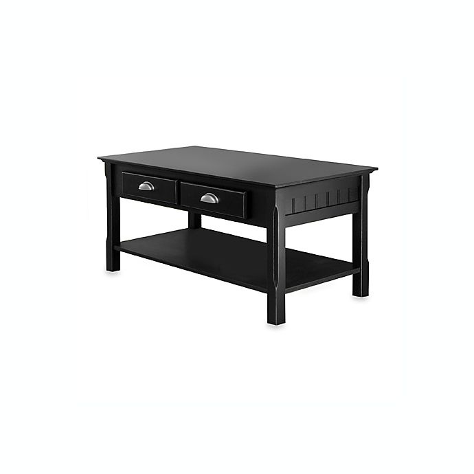 Coffee Table With Drawers Black: Riley Coffee Table With Drawers In Black