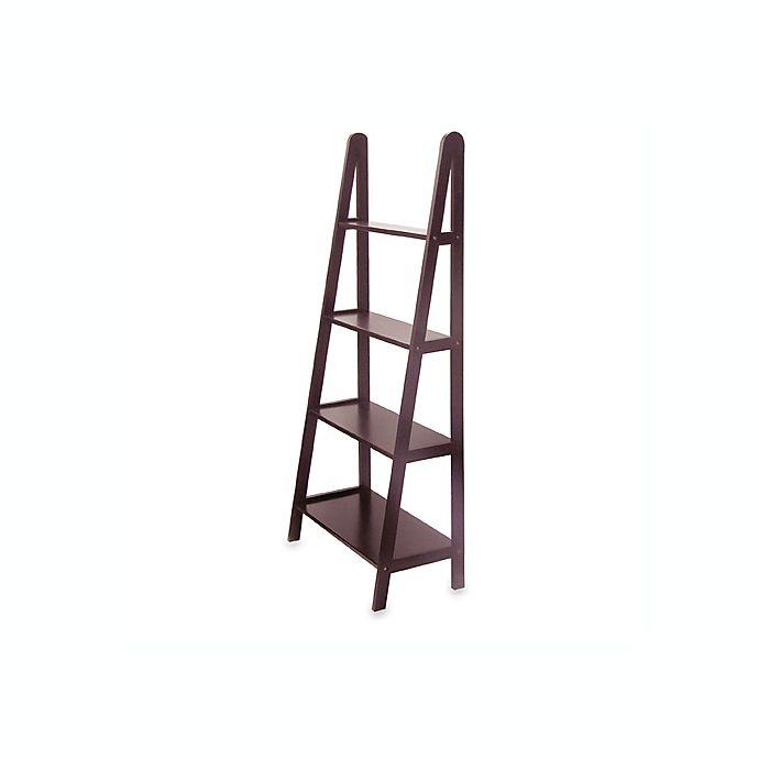 Alternate image 1 for Espresso Four-Shelf A-Frame Bookcase