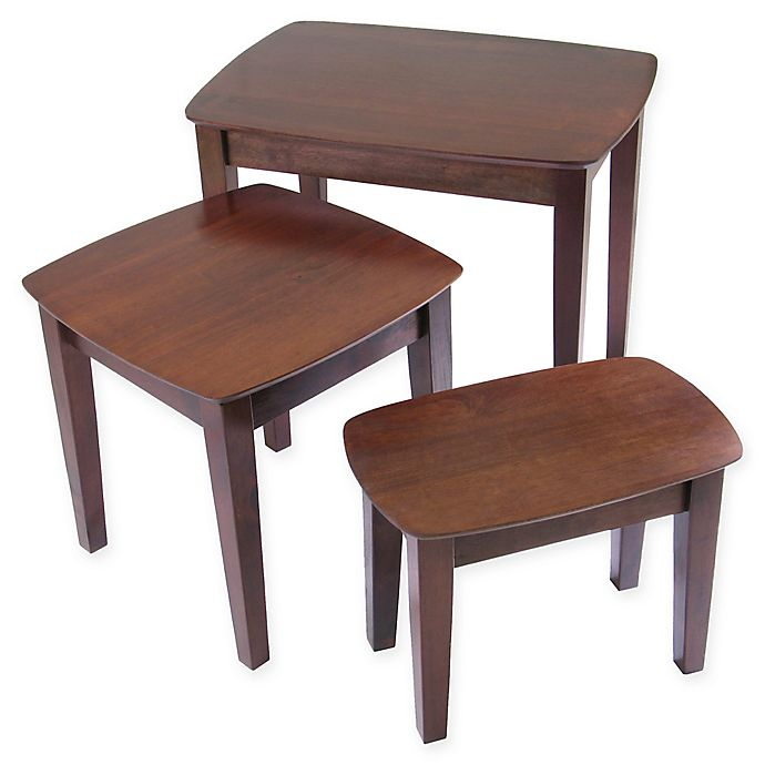 Alternate image 1 for Antique Walnut 3-Piece Nesting Tables