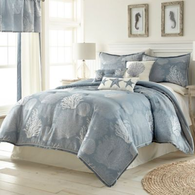 Siesta key comforter set in blue bed bath and beyond canada - Bed bath and beyond bedroom furniture ...