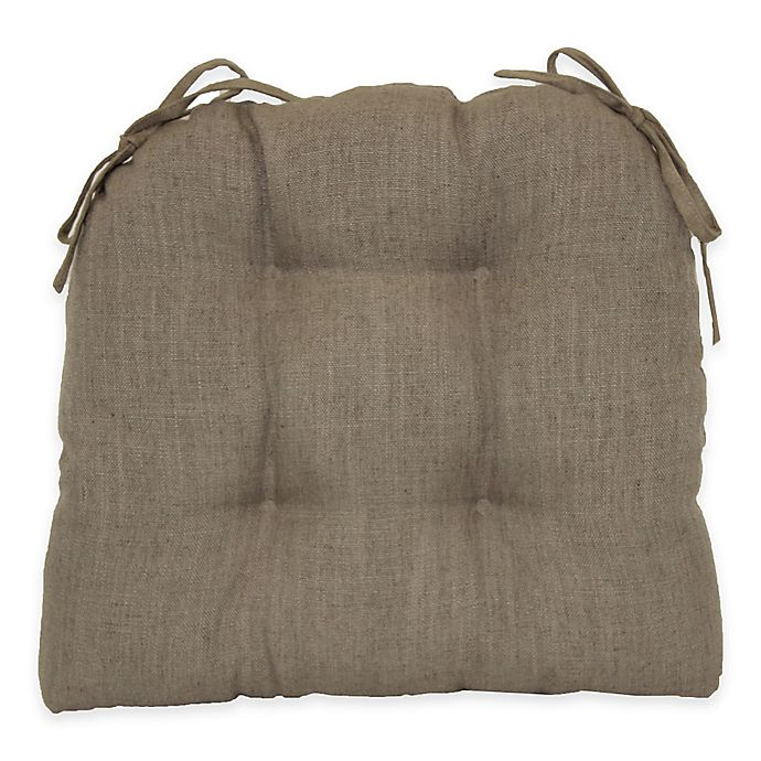 Astounding Midtown Tufted Waterfall Chair Pad In Taupe Bed Bath Beyond Pabps2019 Chair Design Images Pabps2019Com