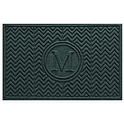 Weather Guard™ Chevron 23-Inch x 36-Inch Door Mat in Evergreen