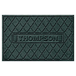 Weather Guard™ Personalized Argyle 23-Inch x 35-Inch Door Mat in Evergreen