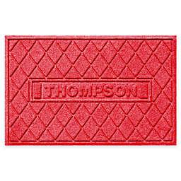 Weather Guard™ Argyle 23-Inch x 35-Inch Door Mat in Red