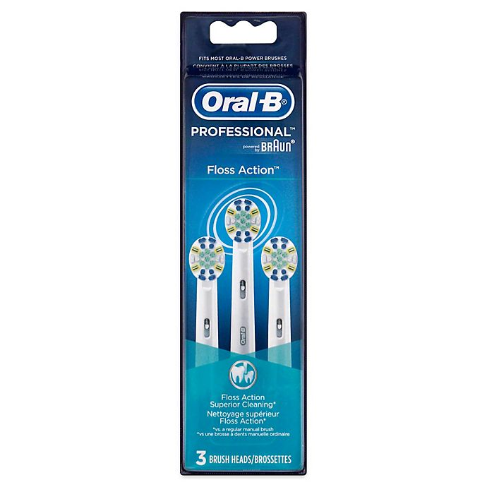Alternate image 1 for Oral-B® FlossAction Replacement Brush Heads (3-Pack)